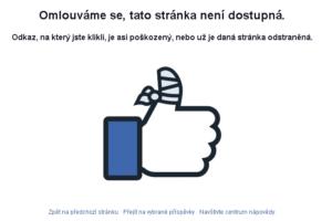 Výpadek facebooku
