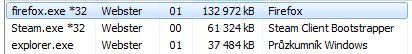 Dvě otevřené okna ve Firefoxu