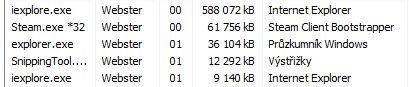20x PageDown v Internet Exploreru