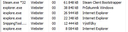 Dvě okna v Internet Exploreru